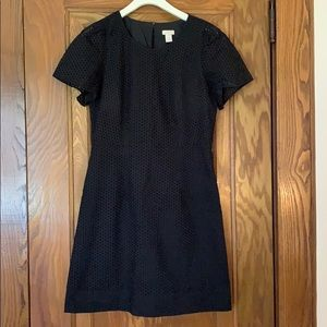 J Crew black eyelet dress